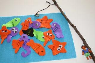 DIY Manualitat infantil pescar peixos