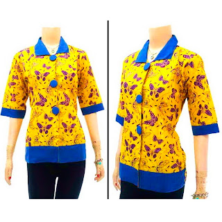 DBT2568 - Baju Bluse Batik Wanita Terbaru 2013