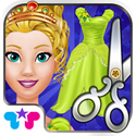 Design it! Princess Fashion Makeover - Make Up, Dress Up, Tailor And Outfit App iTunes Google Play Amazon App Icon Logo By Kids Fun Club by TabTale - FreeApps.ws