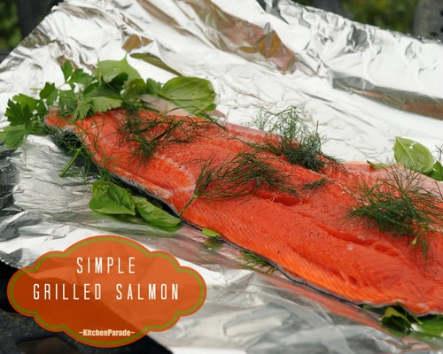 How to grill salmon, simply, sumptuously. Another Quick Supper from Kitchen Parade.