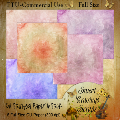 Free Scrapbook Painted Papers From Sweet Cravings Commercial Use
