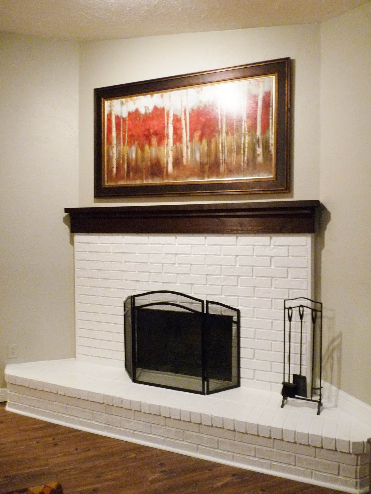 the happy homebodies weekend project fireplace facelift