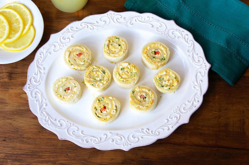 Egg Salad Pinwheel Sandwiches