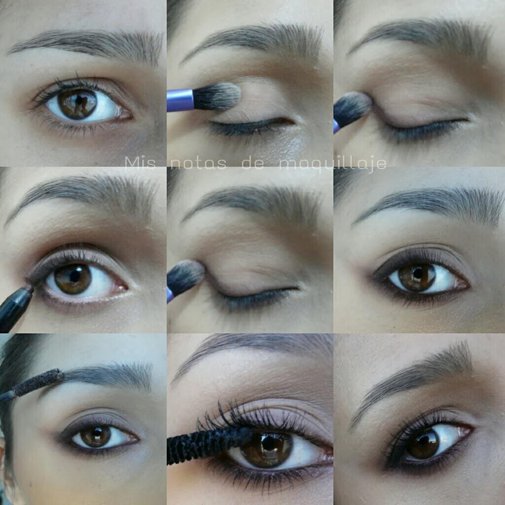 En este caso he elegido unos tonos berenjena tanto en la sombra como en el lápiz de ojos pero se puede utilizar cualquier tono.