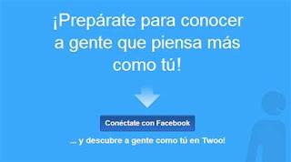 entrar en Twoo con facebook