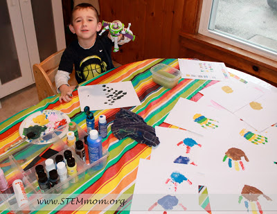 Getting Kids organized for the Kid Handprint Calendar: STEMmom.org