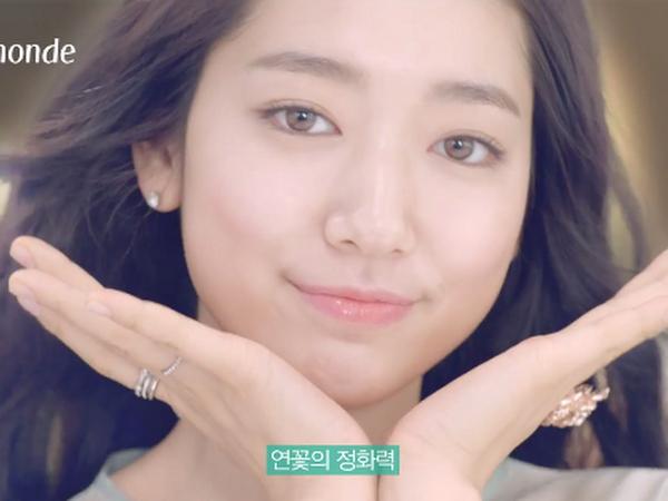 Park shin hye daily k pop news park shin hye is a lovely lotus flower fairy in new mamonde cf mightylinksfo