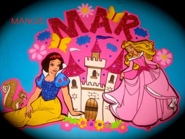 Cartel princesas goma eva