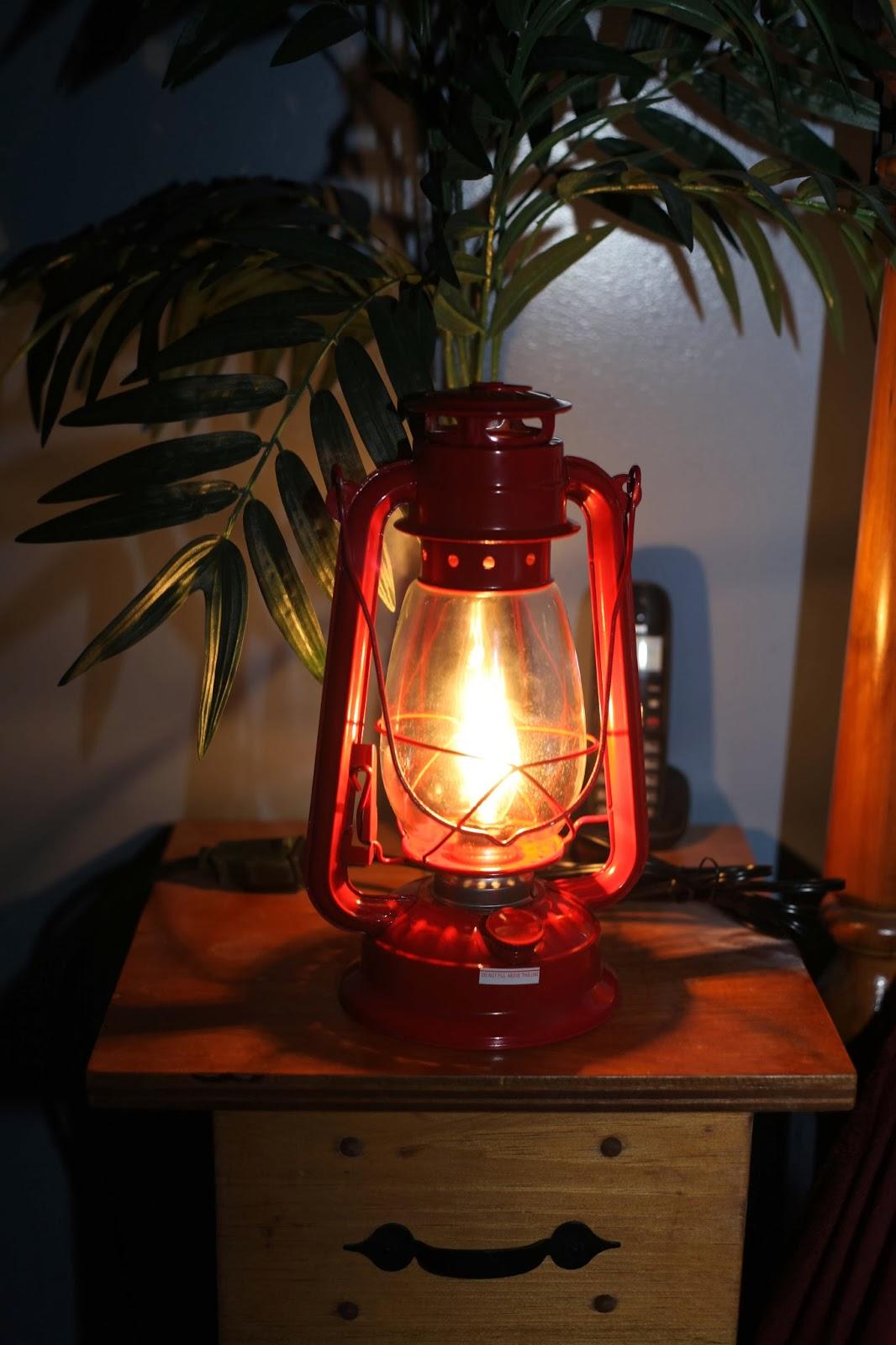 Electric Hurricane Lantern RED