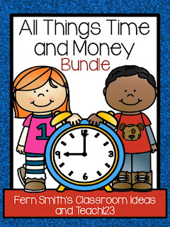 Fern Smith's Classroom Ideas All Things Time and Money Math and Literacy Centers