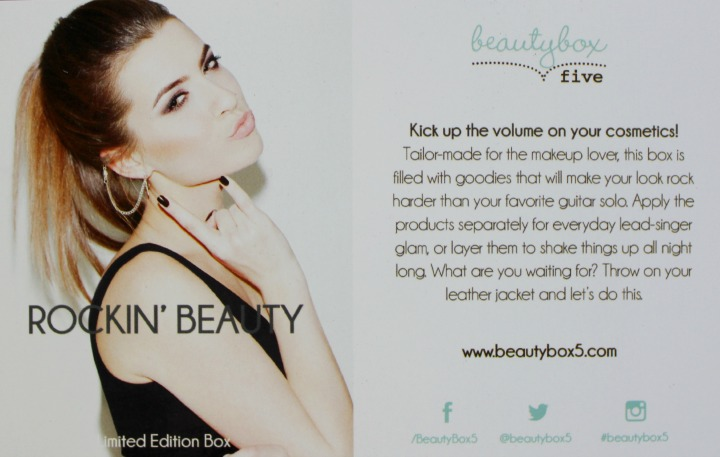 Beauty Box 5 Rockin' Beauty (Limited Edition) info card