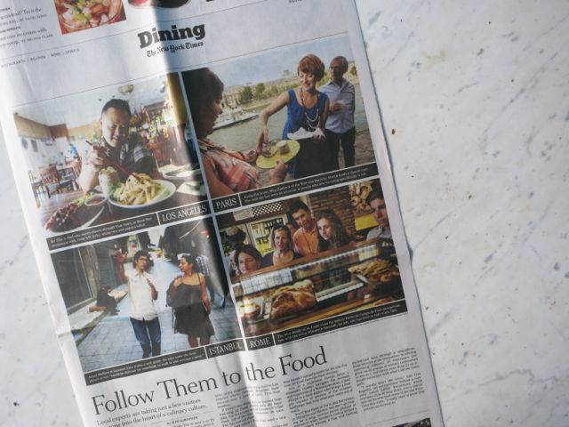 The New York Times, Wednesday July 31 2012, Dining Section, Page 1.