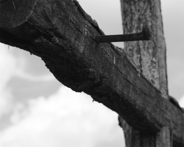nailing jesus to cross. nailed to the cross