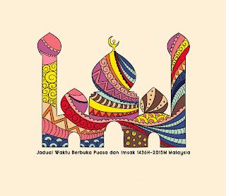 Jadual Waktu Berbuka Puasa dan Imsak 1436H 2015M (JAKIM) Malaysia