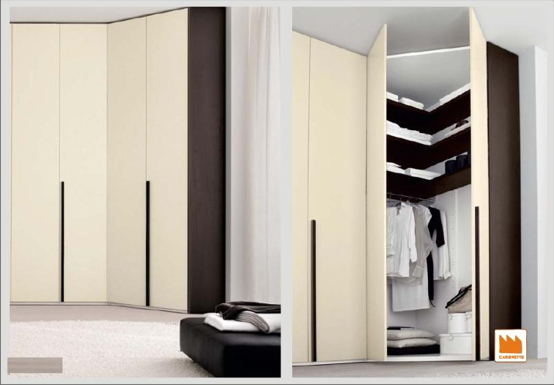 Arredamento e casa armadio angolare angolo a elle o cabina - Armadio con cabina angolare ...