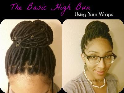 Beautifully Curled: The Basic High Bun using Yarn Wraps