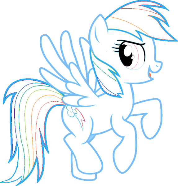 My Little Pony Rainbow Dash Colouring Pages Colorings