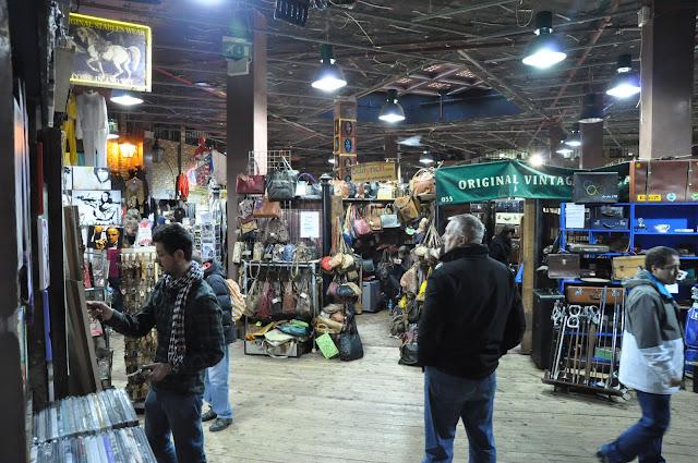 Camden Town Market vintage stalls