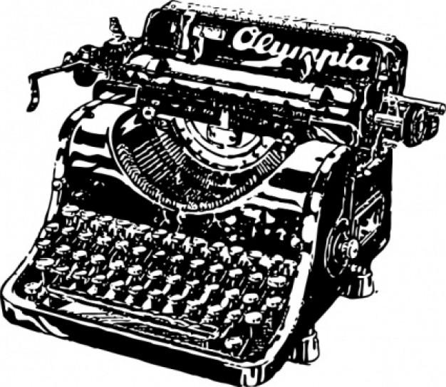 maquinas Royal Typewriter Clip Art Clip Art Old-Fashioned Typewriter
