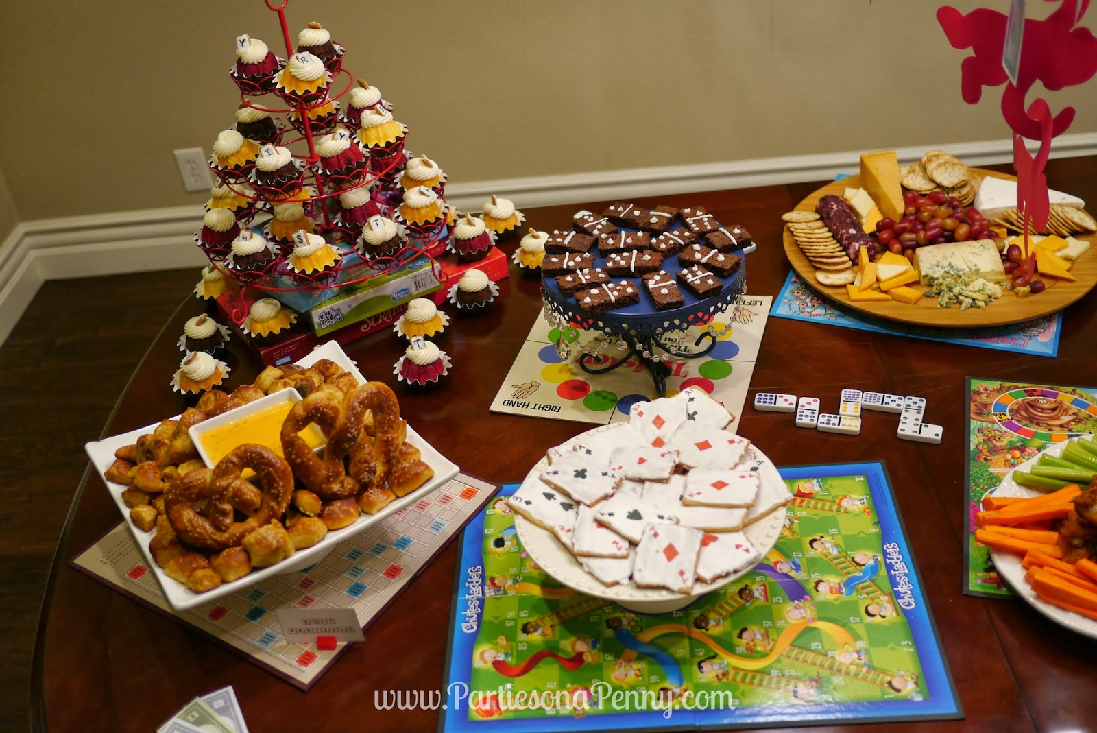 parties on a penny board game themed birthday party