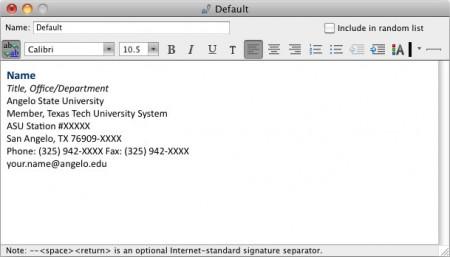 Email Signature Format Slim Image – Sample Email Signature
