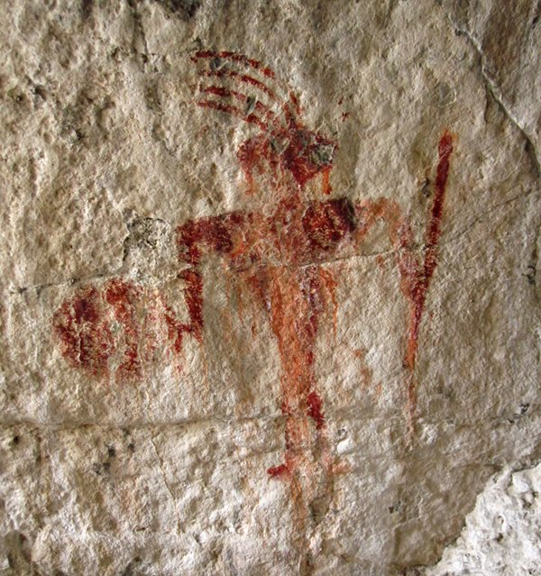 Man Caves Utah : Found the red man pictograph of timpie valley cedar sand