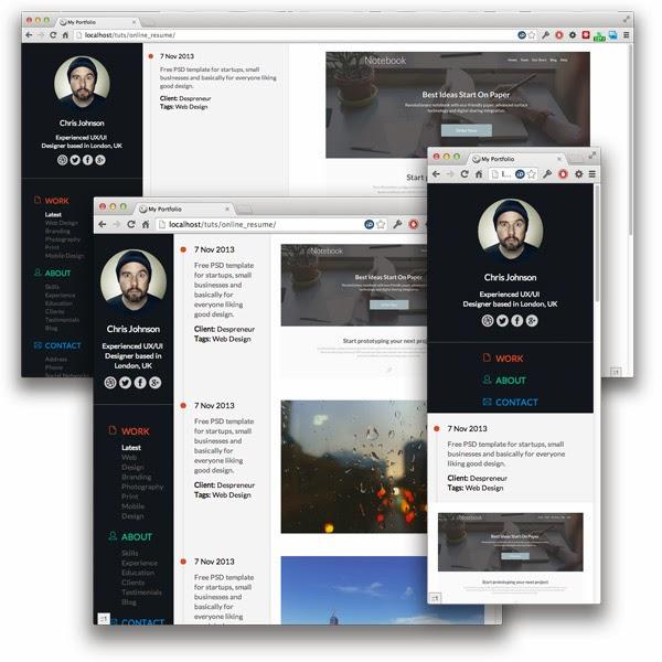 Building the Responsive Timeline Portfolio Page