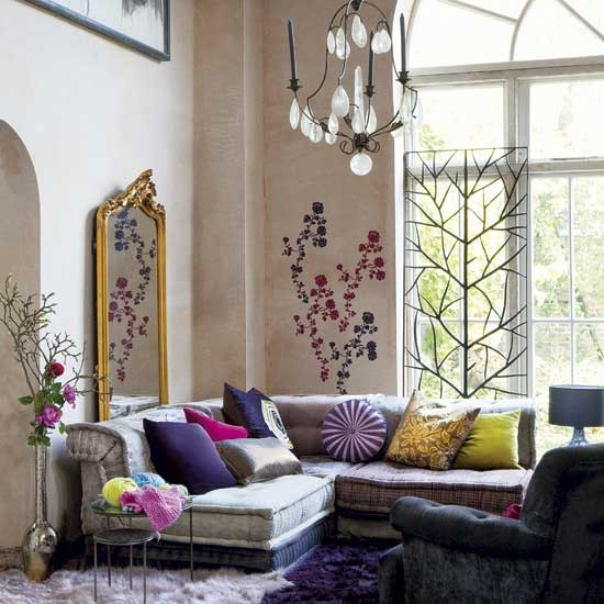 Colorful Cozy Spaces: Dreamy Spaces: Cozy-Glamorous Living Rooms: The Best Kind