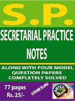 SECRETARIAL PRACTICE NOTES