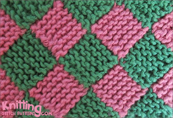 Knitting Stitch Patterns Entrelac : Garter Entrelac step-by-step tutorial Knitting Stitch Patterns