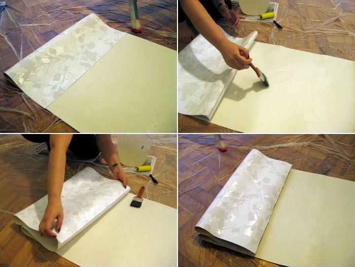 Reforma reforma aplicando papel de parede parte 2 - Cola para papel ...