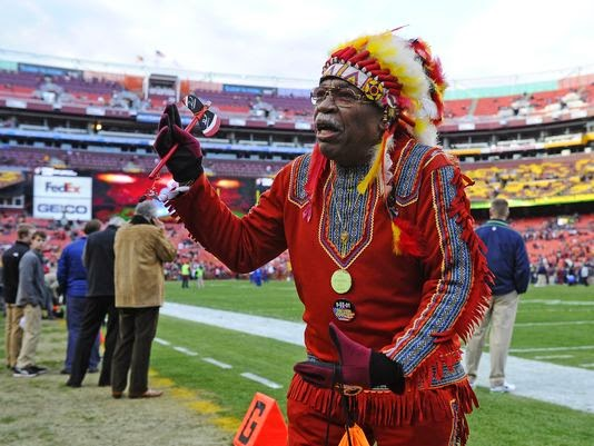 racist redskins fan