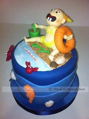 tarta niña en la playa modelada2
