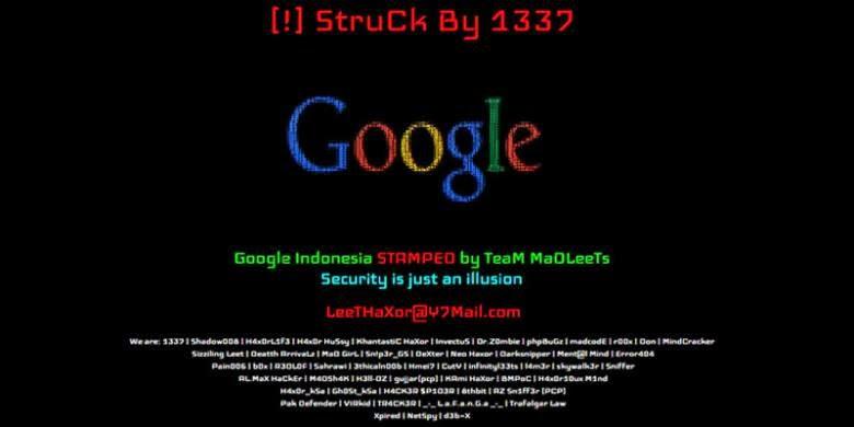 Google Indonesia Diserang Hacke