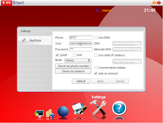 change MBlaze data card network settings by hack