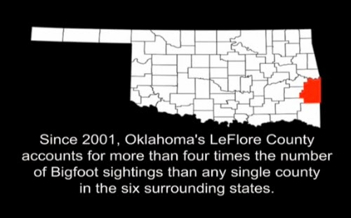 Oklahoma Bigfoot Sightings