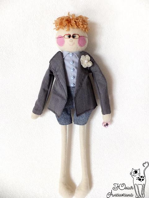 Кукла длинноножка по фото. Жених Паша. Детали