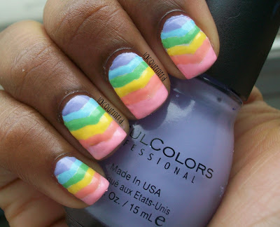 31DC2013 Day 9: Rainbow Nails