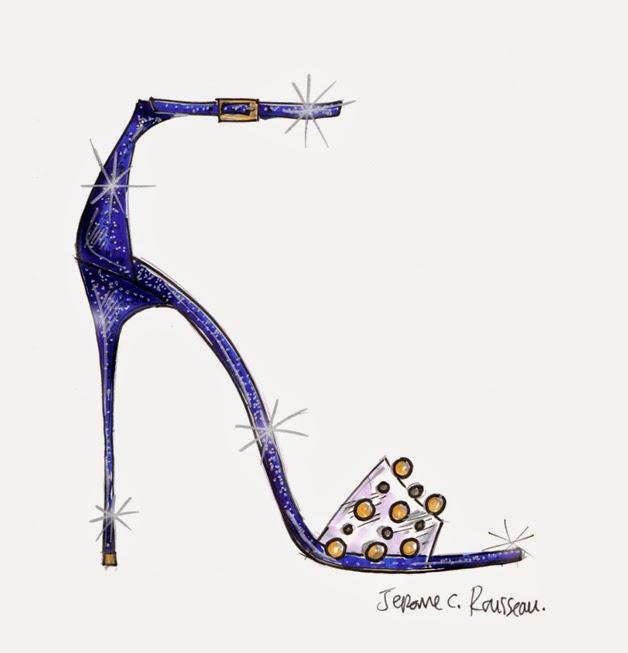 Jerome C Rousseau Cinderella Glass Slipper Sketch