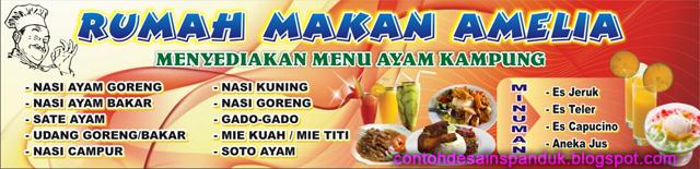 Download image Spanduk Warung Makan Ayam Kampung Amelia Modelminimalis ...