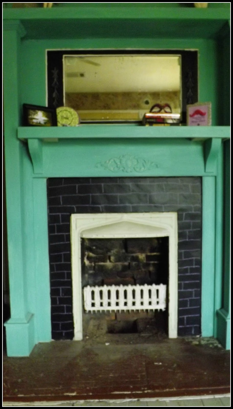confessions of an add english teacher chalkboard fireplace