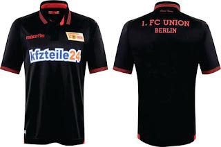 gambar detail musim depan bocoran jersey ter update Jersey Union Berlin Tandang 2015/2016
