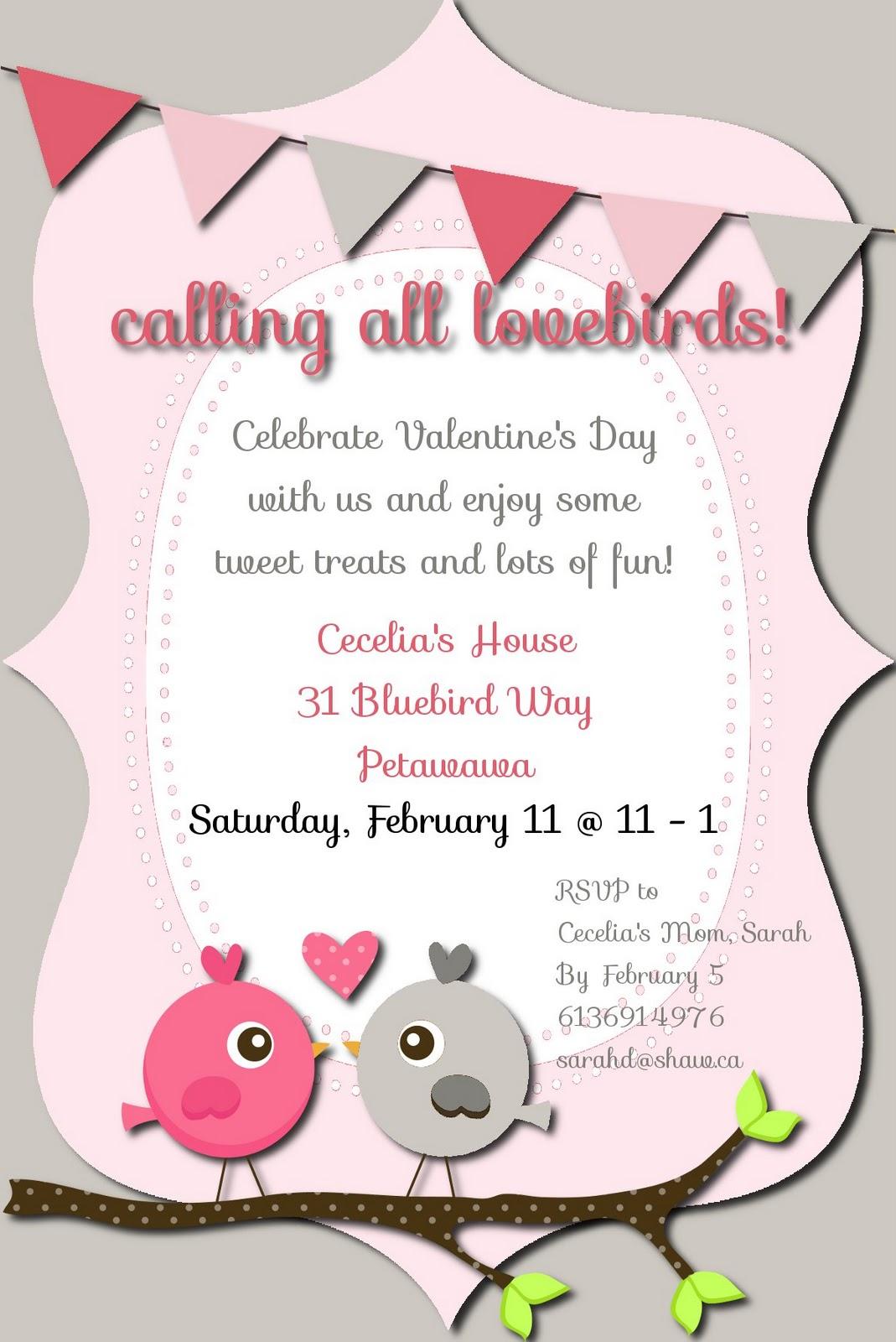 Valentine Invites - Becoming Martha