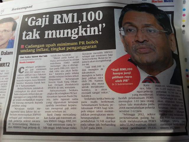 MENTALITI MENTERI MALAYSIA YANG KOLOT