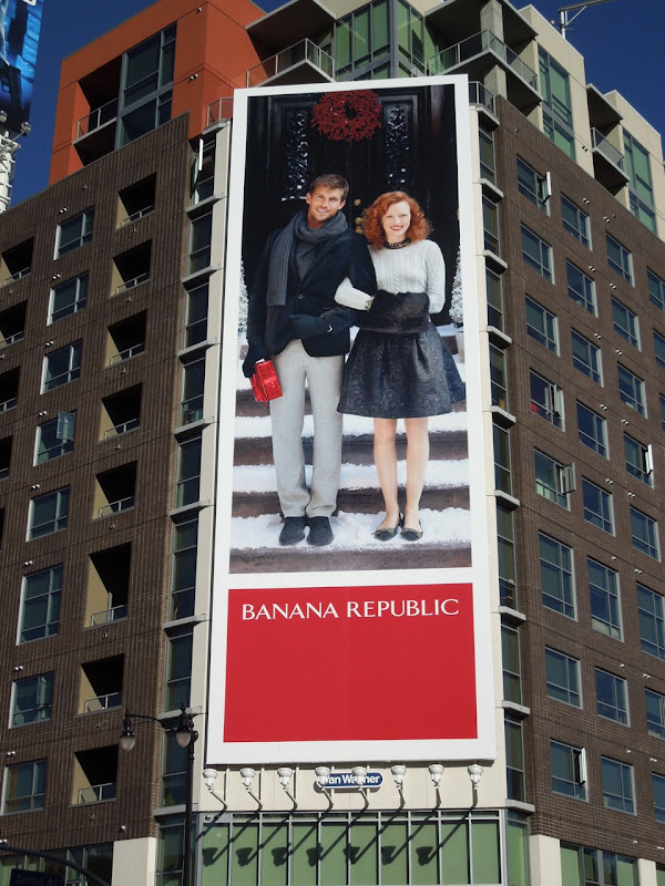 Banana Republic Christmas 11 billboard