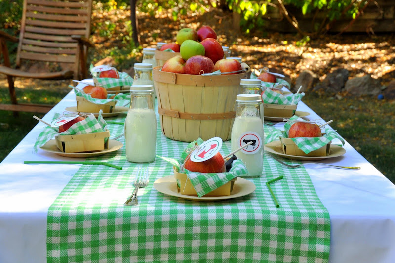 I Used A Chevron Table Runner For Tessu0027s Chevron Dot Party And A Green  Oversized Gingham One For Scarlettu0027s Modern Farm Birthday, And A Red Gingham  One For ...