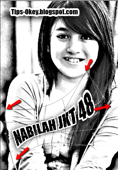 Foto Nabilah JKT48 Editing Sketsa