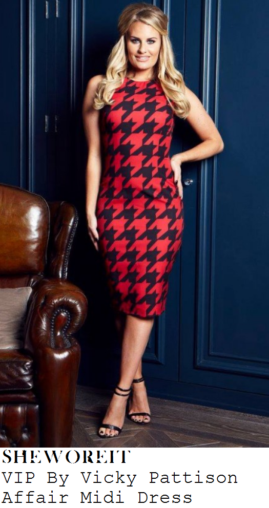 casey-batchelor-red-and-black-houndstooth-midi-dress
