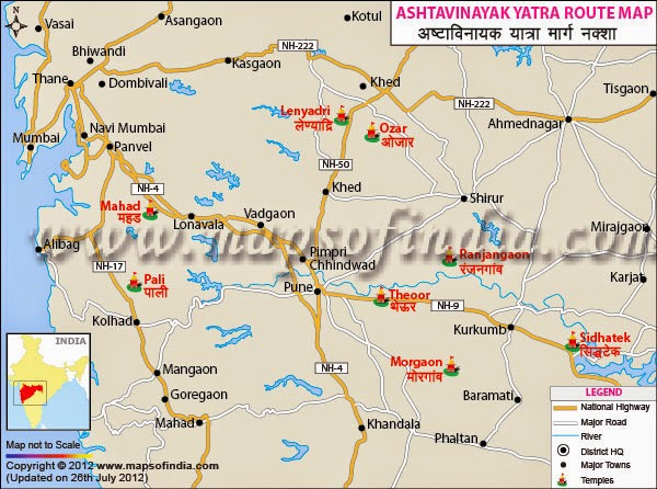 ashtavinayak map