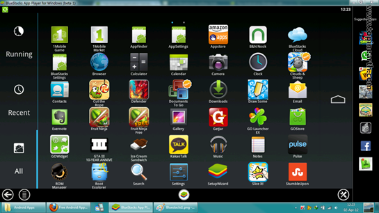 BlueStacks App Player 0.9.11